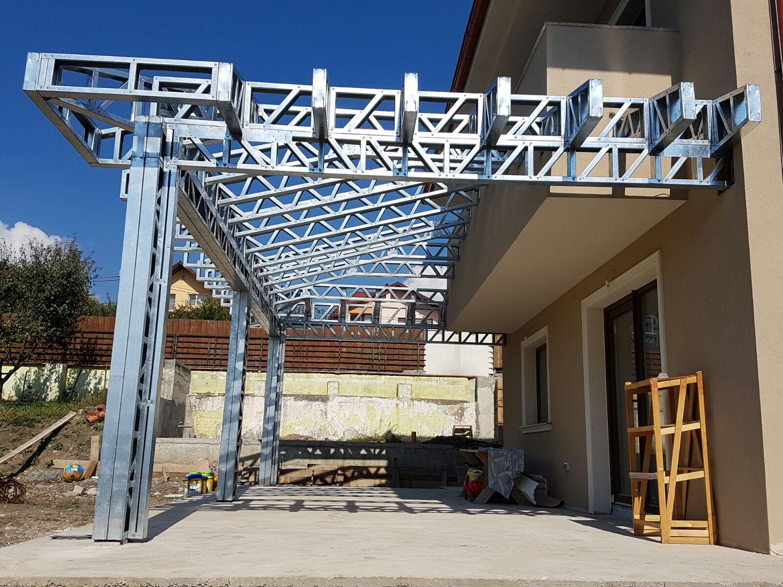terasa pe structura metalica