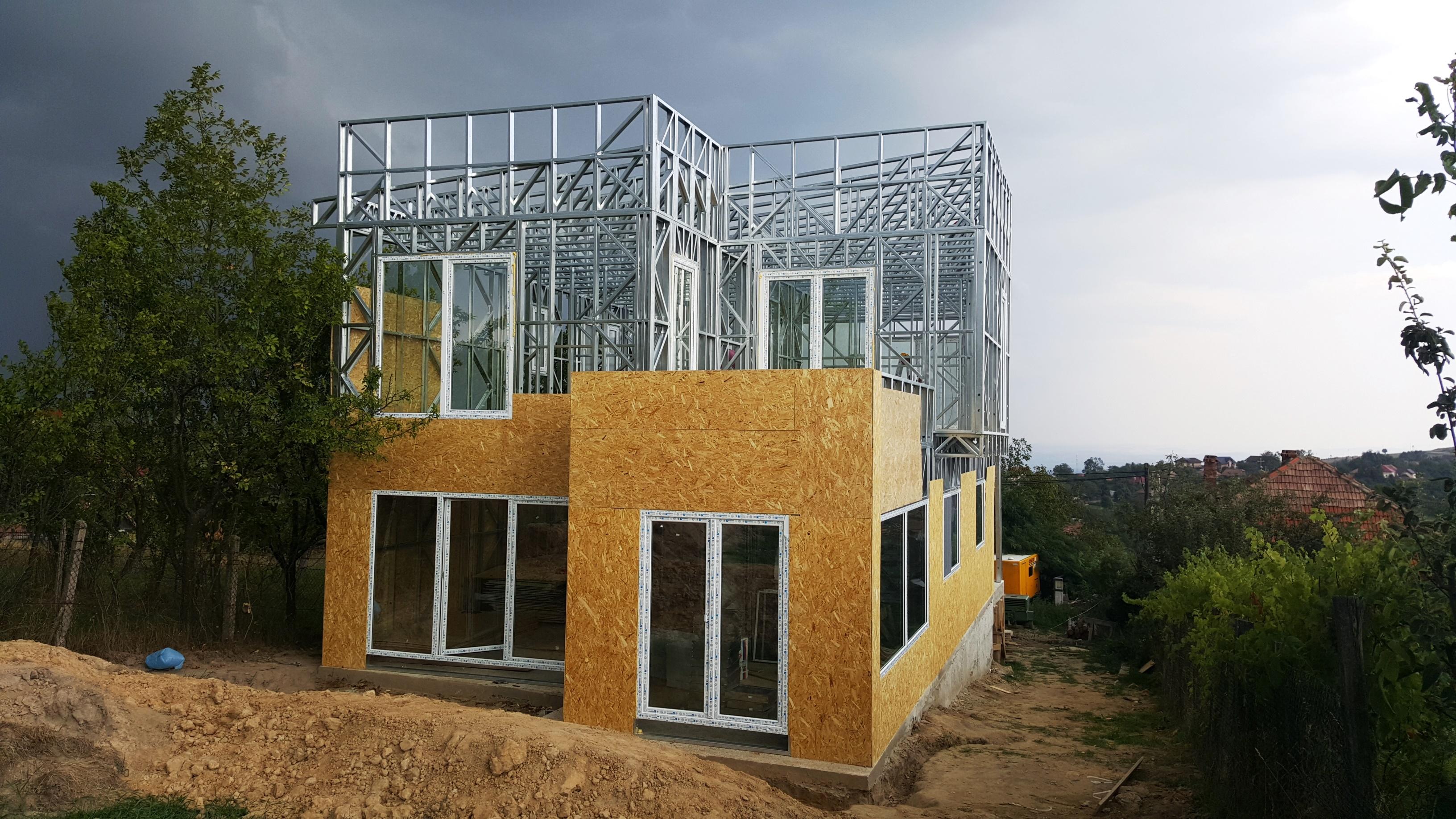 Casa pe structura metalica Feleac Cluj, 193 mp