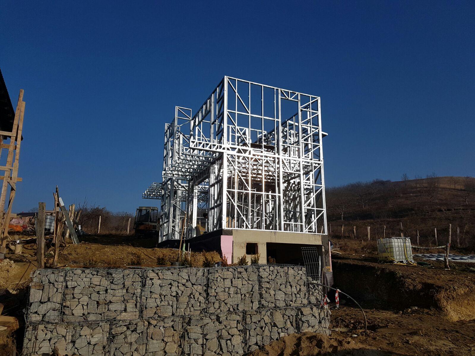 Case pe structura metalica usoara Cluj